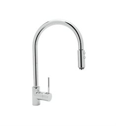 Rohl LS57 Modern Architectural Side Lever Pull-down High Spout Kitchen Faucet