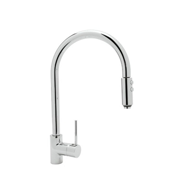 Rohl LS57-PN Modern Architectural Side Lever Pull-down High Spout Kitchen Faucet With Finish: Polished Nickel