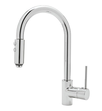 Rohl LS59-STN Modern Architectural Side Lever Pull-down Kitchen Faucet With Finish: Satin Nickel