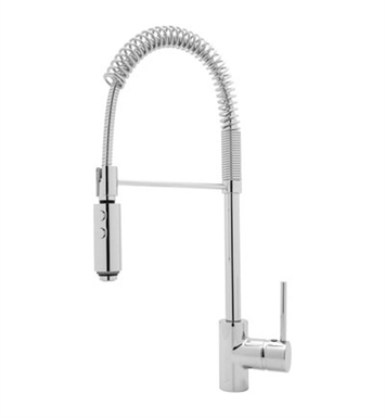 Rohl LS64L-APC LS64 Modern Architectural Side Lever Pro Pull-down Kitchen Faucet With Finish: Polished Chrome