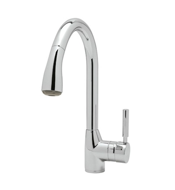 Rohl R7505-APC Dé Lux Side Lever Pull-Down Kitchen Faucet With Finish: Polished Chrome