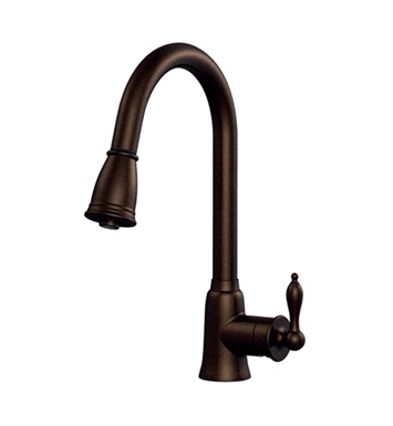 Danze D454510BR Prince™ Single Handle Kitchen Pull-Down Faucet in Tumbled Bronze