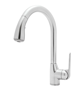 Rohl R7506-PN Dé Lux Side Lever Pull-Down Kitchen Faucet With Finish: Polished Nickel