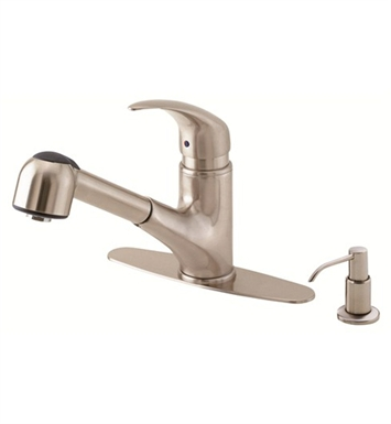 Danze D454512SS Melrose™ Single Handle Pull-Out Kitchen Faucet in Stainless Steel