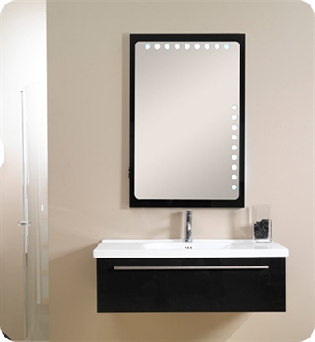 Nameeks FL1-GW Iotti Modern Bathroom Vanity Set from Fly Collection With Finish: Glossy White