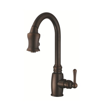 Danze D454557BR Opulence™ Single Handle Pull-Down Kitchen Faucet in Tumbled Bronze