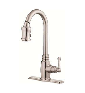 Danze D454557SS Opulence™ Single Handle Pull-Down Kitchen Faucet in Stainless Steel