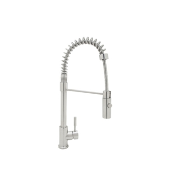 Rohl R7521SS Modern Architectural Side Lever Stainless Steel Pro Pull-Down Kitchen Faucet