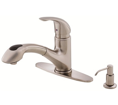 Danze D454612SS Melrose™ Single Handle Pull-Out Kitchen Faucet in Stainless Steel