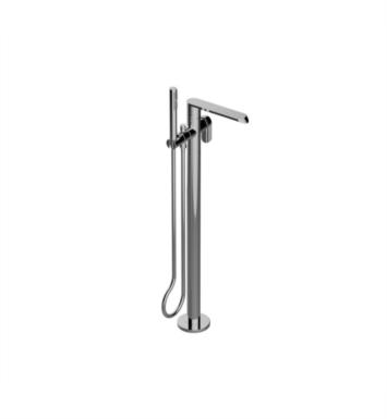 "Graff G-6654-LM45N-BNI Phase 34 3/8"" Floor Mounted Tub Filler with Handshower and Diverter With Finish: Brushed Nickel And Rough / Valve: Rough"