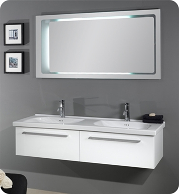 Nameeks FL2-GB Iotti Modern Bathroom Vanity Set from Fly Collection With Finish: Glossy Black