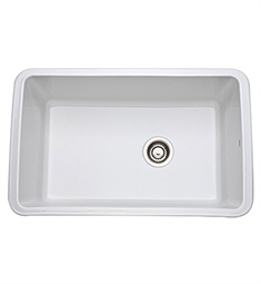 Rohl 6307-00 Allia Undermount Fireclay Kitchen Sink in White