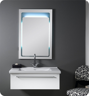 Nameeks FL3-GW Iotti Modern Bathroom Vanity Set from Fly Collection With Finish: Glossy White