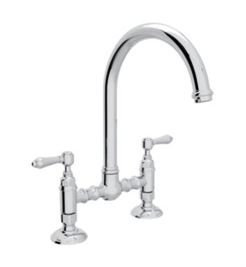 "Rohl A1461 Country Kitchen 8 1/2"" Deck Mounted C-Spout Bridge Faucet"