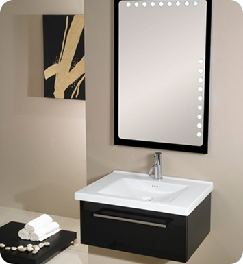 Nameeks FL4-GB Iotti Modern Bathroom Vanity Set from Fly Collection With Finish: Glossy Black