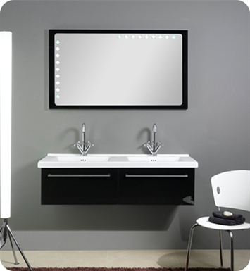 Nameeks FL5-GW Iotti Modern Bathroom Vanity Set from Fly Collection With Finish: Glossy White