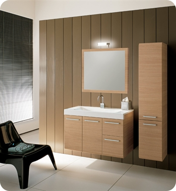 Nameeks Iotti LE2 Modern Bathroom Vanity Set from Linear Collection With Finish: Glossy White