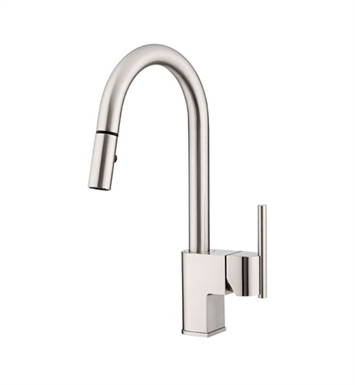 Danze D454542SS Como™ Single Handle Pull-Down Kitchen Faucet in Stainless Steel