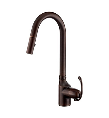 Danze D457020BR Anu™ Single Handle Pull-Down Kitchen Faucet in Tumbled Bronze