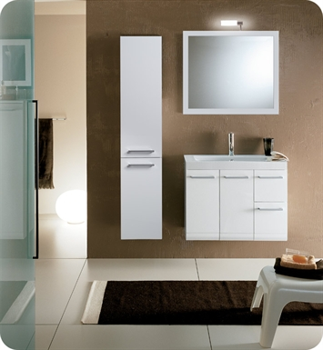 Nameeks LE3-GW Iotti Modern Bathroom Vanity Set from Linear Collection With Finish: Glossy White