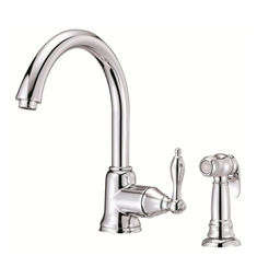 Danze Fairmont™ Single Handle Kitchen Faucet with Spray in Chrome
