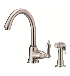 Danze Fairmont™ Single Handle Kitchen Faucet with Spray in Stainless Steel