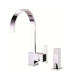 Danze Sirius™ Single Handle Kitchen Faucet with Spray in Chrome
