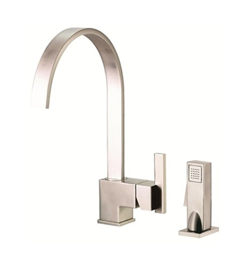 Danze D401544SS Sirius™ Single Handle Kitchen Faucet with Spray in Stainless Steel