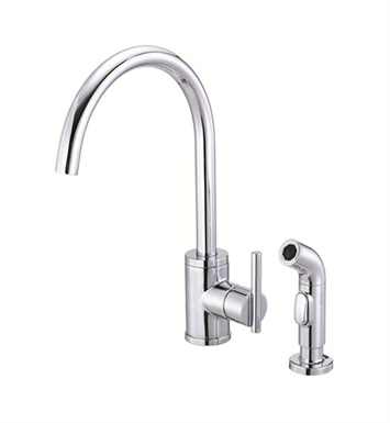 Danze D401558 Parma™ Single Handle High-Rise Kitchen Faucet with Spray in Chrome