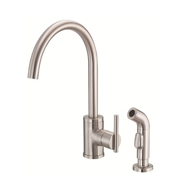 Danze D401558SS Parma™ Single Handle High-Rise Kitchen Faucet with Spray in Stainless Steel