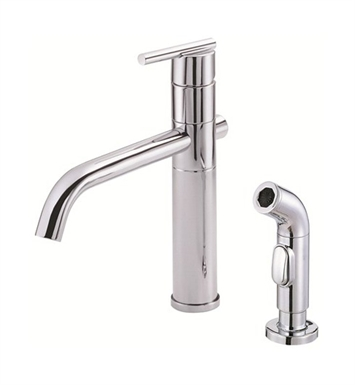 Danze D405558 Parma™ Single Handle Kitchen Faucet with Spray in Chrome
