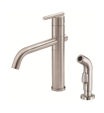 Danze Parma™ Single Handle Kitchen Faucet with Spray in Stainless Steel