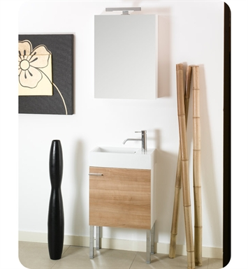 Nameeks LA2-NO Iotti Modern Bathroom Vanity Set from Lola Collection With Finish: Natural Oak