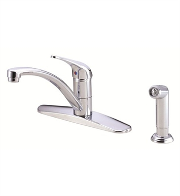 Danze D407112 Melrose™ Single Handle Kitchen Faucet with Spray in Chrome