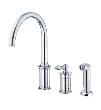 Danze D409010 Prince™ Single Handle Kitchen Faucet with Spray in Chrome