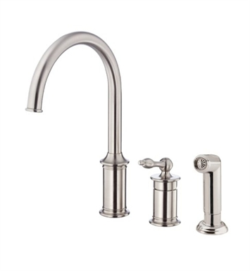Danze Prince™ Single Handle Kitchen Faucet with Spray in Stainless Steel