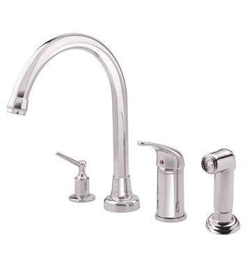 Danze D409012 Melrose™ Single Handle High-Rise Kitchen Faucet with Spray in Chrome
