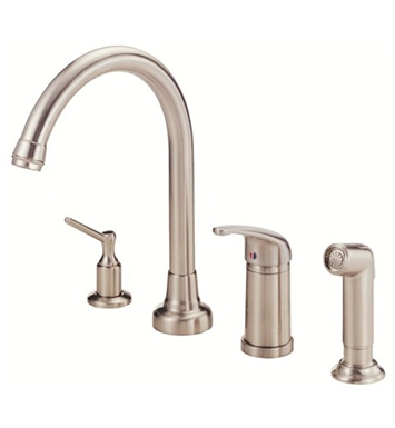 Danze D409012SS Melrose™ Single Handle High-Rise Kitchen Faucet with Spray in Stainless Steel