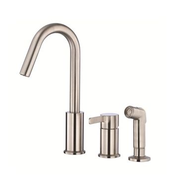 Danze D409030SS Amalfi™ Single Handle Kitchen Faucet with Spray in Stainless Steel