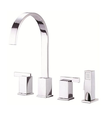 Danze Sirius™ Two Handle Kitchen Faucet with Spray in Chrome