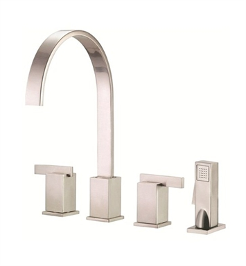 Danze D422044SS Sirius™ Two Handle Kitchen Faucet with Spray in Stainless Steel
