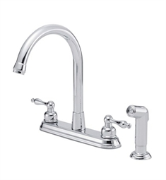 Danze Sheridan™ Two Handle High-Rise Kitchen Faucet with Spray in Chrome