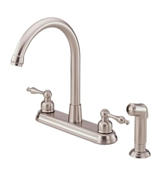 Danze Sheridan™ Two Handle High-Rise Kitchen Faucet with Spray in Stainless Steel