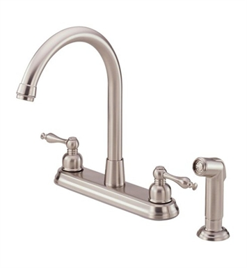 Danze D422055SS Sheridan™ Two Handle High-Rise Kitchen Faucet with Spray in Stainless Steel