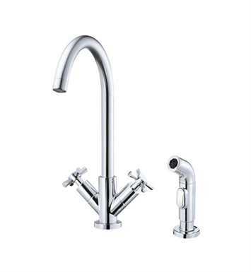 Danze D402059 Parma™ Two Handle High-Rise Kitchen Faucet in Chrome