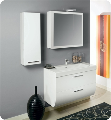 Nameeks NN1-GW Iotti Modern Bathroom Vanity Set from New Day Collection With Finish: Glossy White