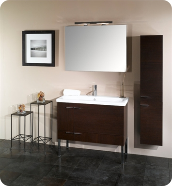 Nameeks NS2-W Iotti Modern Bathroom Vanity Set from Simple Collection With Finish: Wenge