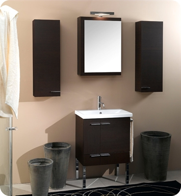 Nameeks NS3-W Iotti Modern Bathroom Vanity Set from Simple Collection With Finish: Wenge