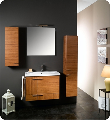 Nameeks NS8-NO Iotti Modern Bathroom Vanity Set from Simple Collection With Finish: Natural Oak