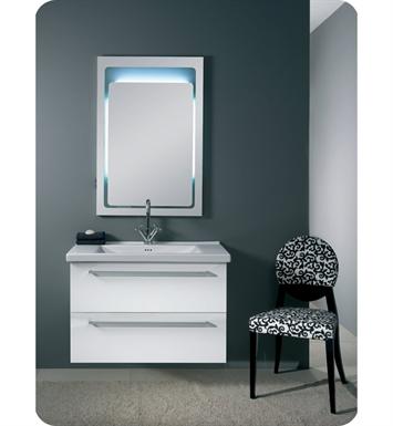 Nameeks FL6-GB Iotti Modern Bathroom Vanity Set from Fly Collection With Finish: Glossy Black